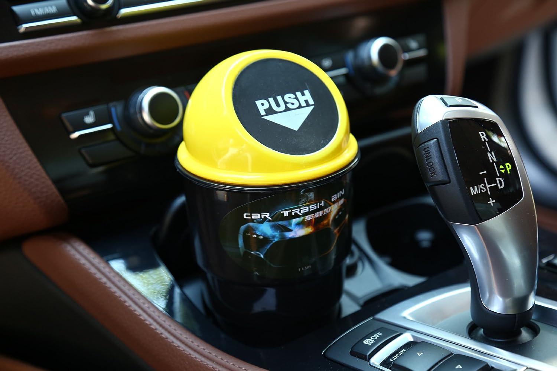 FOLCONROAD Automotive Porte-gobelet Poubelle Couvercle Amovible pour Plus de facilit/é Mini Auto Voiture V/éhicule Poubelle Poubelle Auto Garbage Pouvez Bureau Trash Container