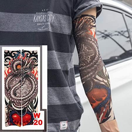 tzxdbh 3PCs-Tattoo Manga del Tatuaje de Cuerpo Entero Tatuaje ...