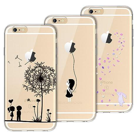 Yokata Kompatibel mit iPhone 6 Hülle iPhone 6S Hülle Silikon Transparent Durchsichtig Handyhülle Schutzhülle TPU Dünn Slim Kr