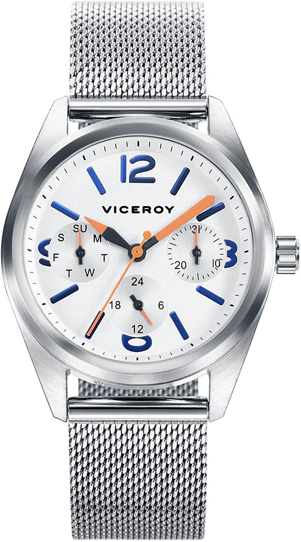 Viceroy Reloj Multiesfera para Niños de Cuarzo con Correa en Acero Inoxidable 401103-04