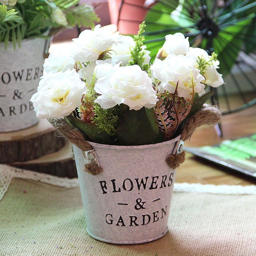MLSG-Artificial-European-Rose-Flowers-with-Iron-Drum-Bucket-Iron-Art-Vasue-for-Wedding-Flower-Arrangements-Home-Hotel-PartyPhoto-Decoration-European-Rose-White