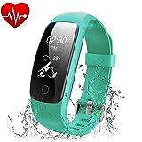 Fitness Tracker,Runme Activity Tracker con Cardio Cardiofrequenzimetro,Smartwatch con Pedometro/Messaggio Notifiche/Monitor del Sonno,Impermeabile IP67 Braccialetto Fitness per IOS/Android Smartphone.