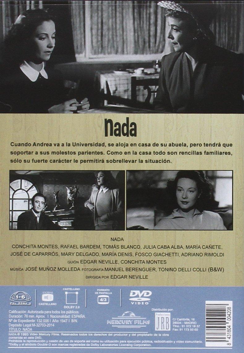 Nada [DVD]: Amazon.es: Conchita Montes, Rafael Bardem, Tomás Blanco, Julia Caba Alba, María Cañete, José de Caparrós, Mary Delgado, María Denis, ...