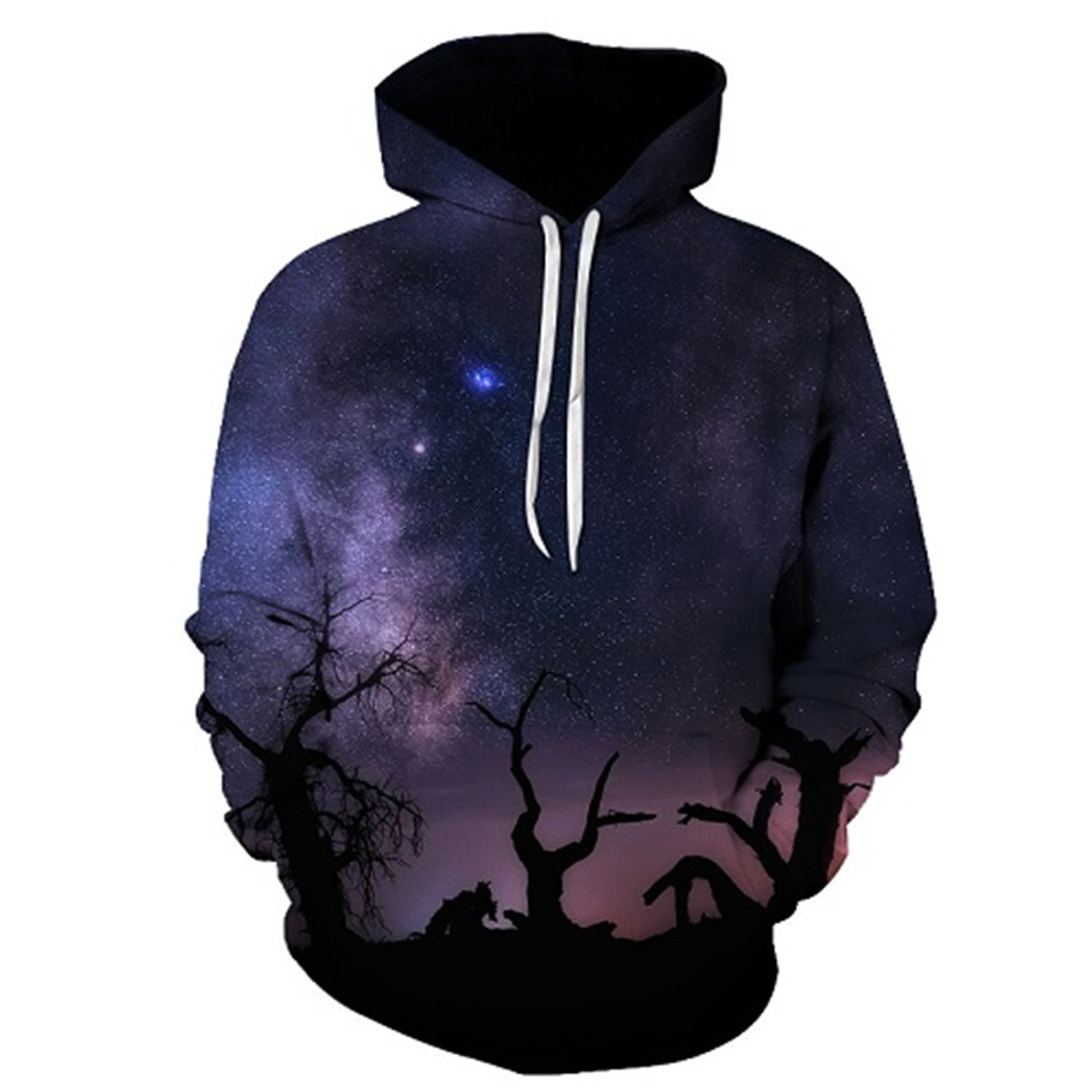 Matterin Christiao Space Night Printed Hoodies Unisex Sweatshirts 3D Pullovers Men Tracksuits Novelty Jacket
