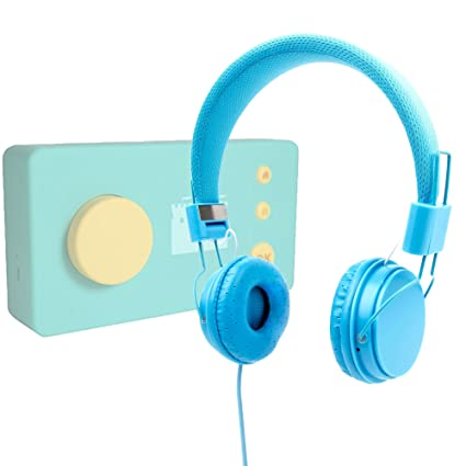 Blue Kids Ultra-Stylish Headphones Compatible with the Lunii 1-EN My Fabulous Storyteller