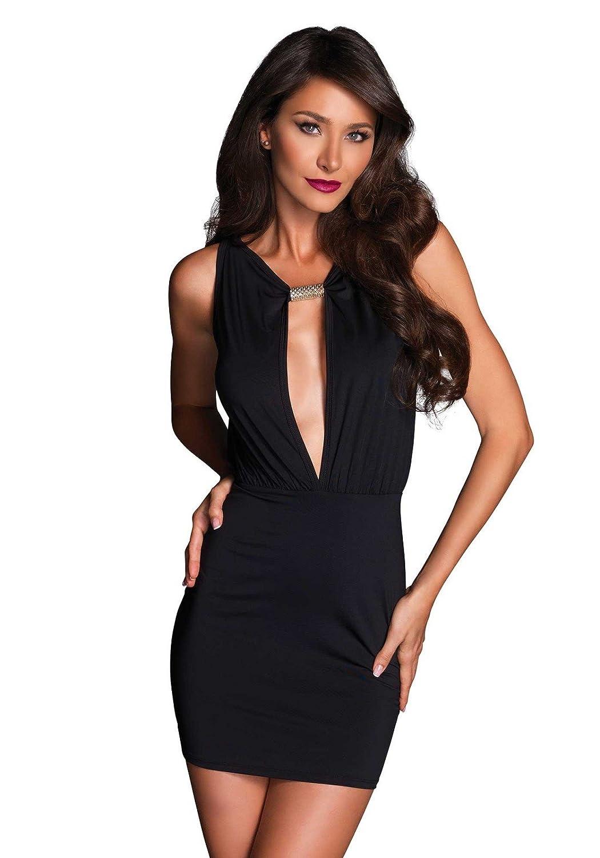 Leg Avenue LO86633 - Damen Kleid Chloë, schwarz, Large, Dessous Damen Reizwäsche LO8663303001