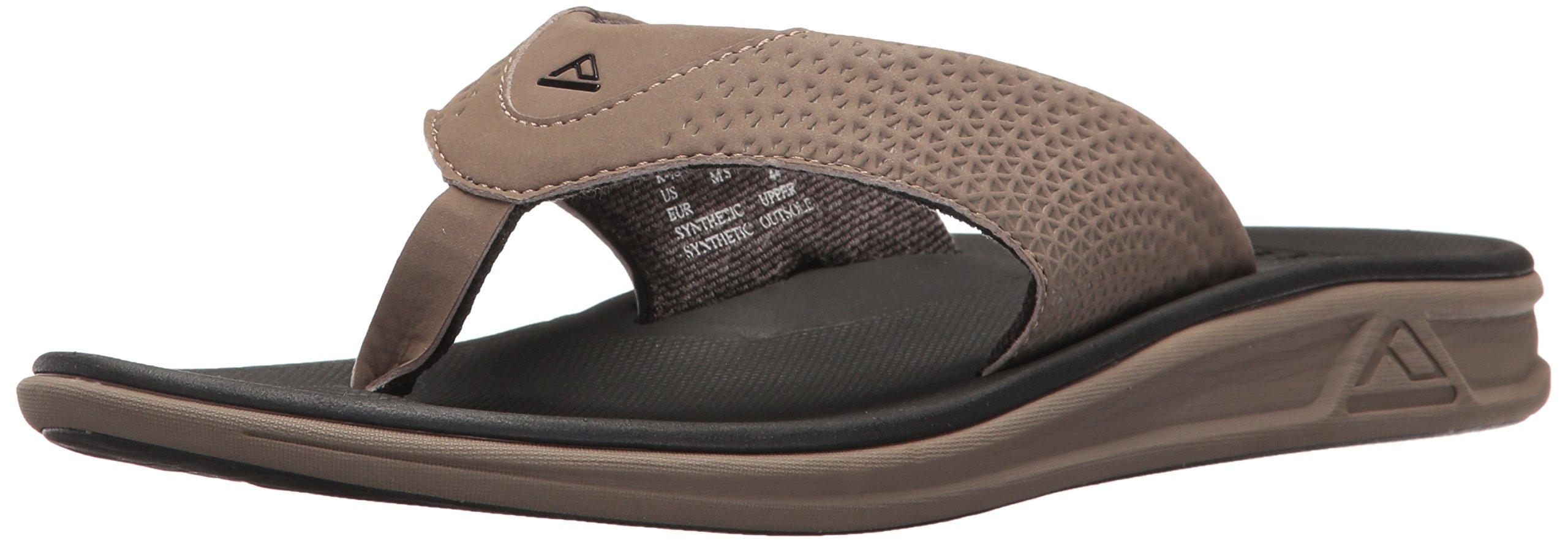 Reef Men's Rover Flip Flop, Tan/black, 15 M US