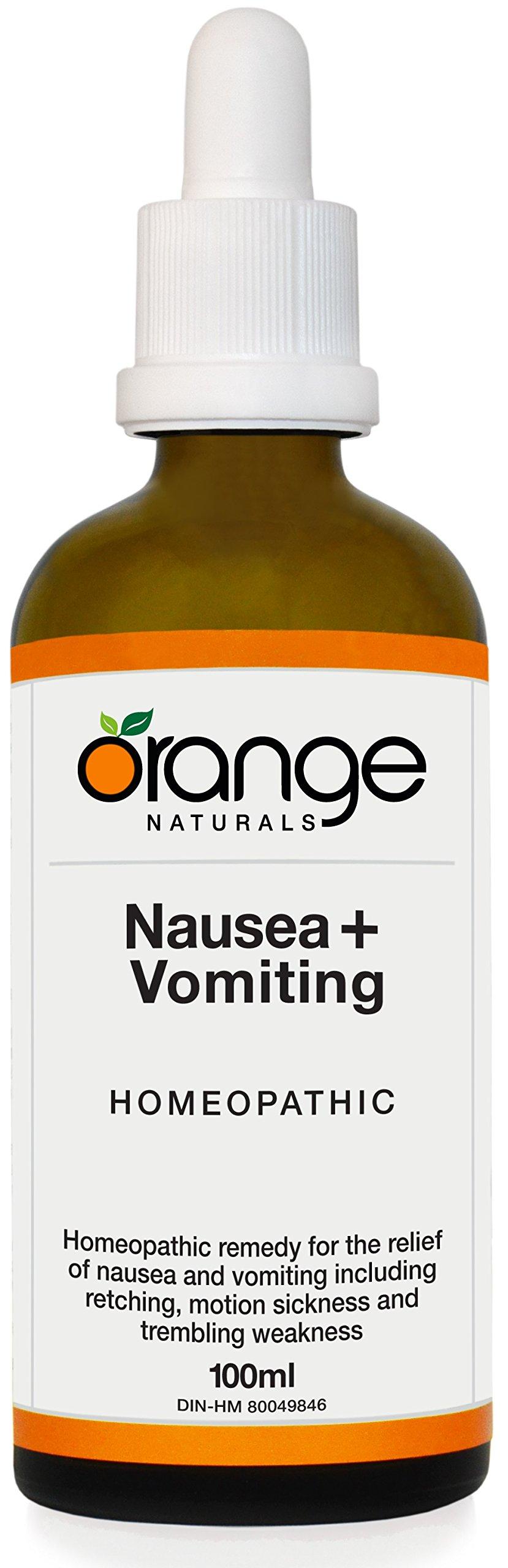 Orange Naturals Homeopathic Nausea + Vomiting, 100 ml