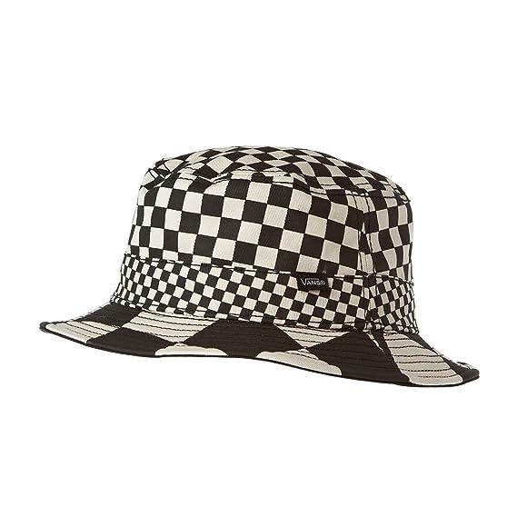 ef4b8b614850b Vans Men s Checker Bucket Hat - Checker Black  Amazon.in  Clothing ...