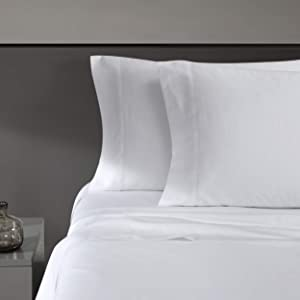 Vera Wang | 800 Collection | Bed Sheet Set - 800 Thread Count, Silky Smooth & Wrinkle-Resistant Bedding, Queen, White