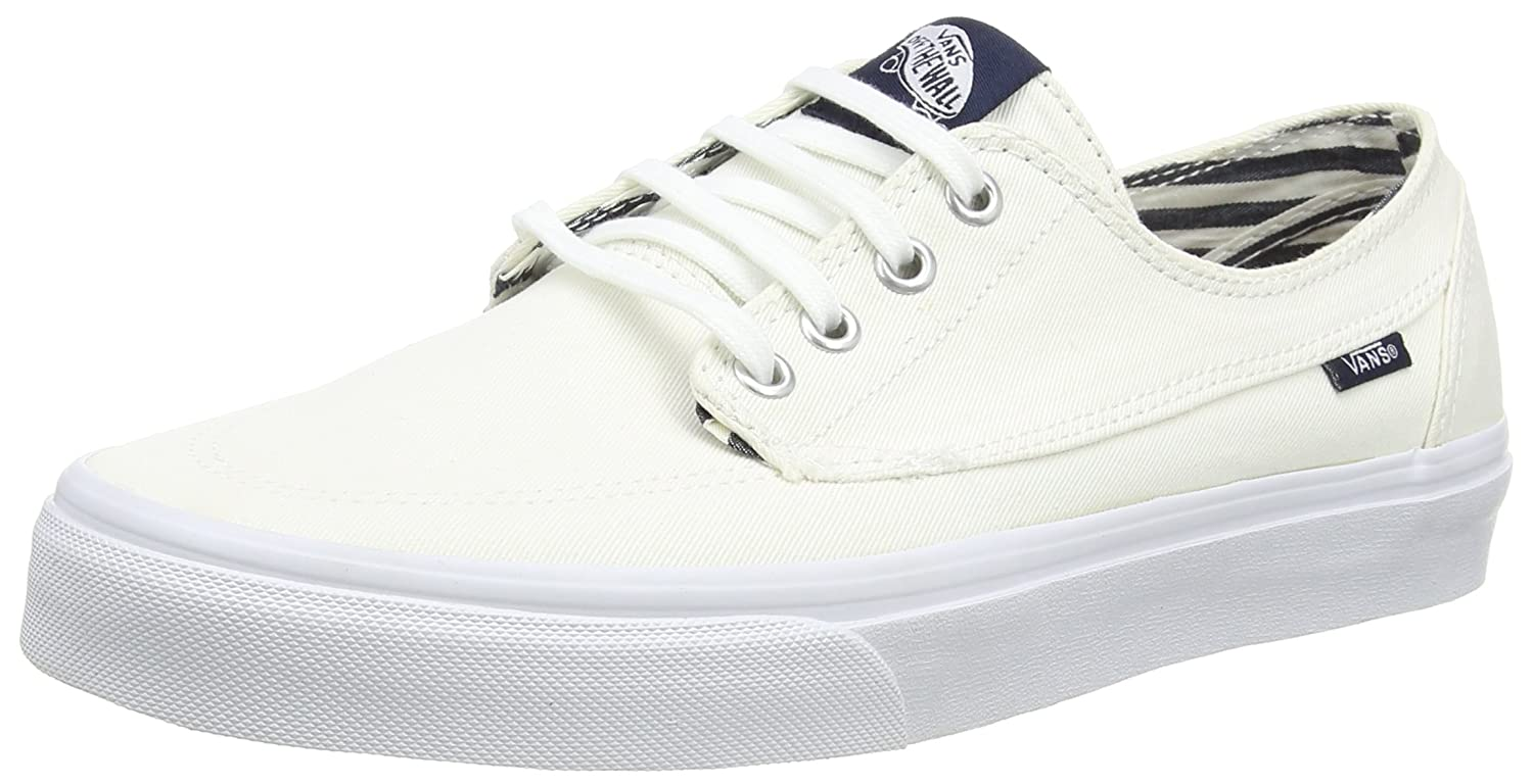 Vans Unisex-Erwachsene Brigata Low-Top  42 EU|Wei? (Deck Club/True White)