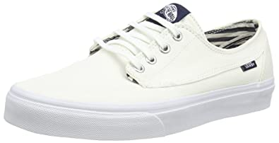 eb492206471da8 Vans Men Brigata - Deck Club (white   true white) Size 4 US