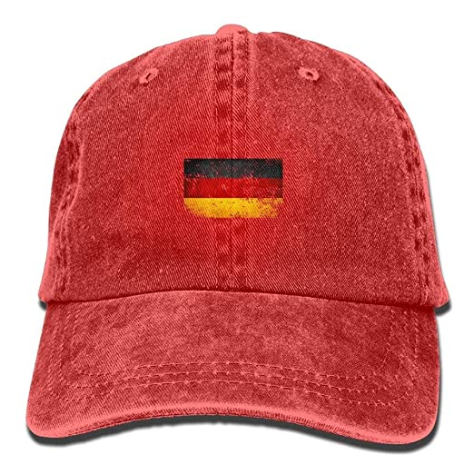 Funny German Flag Denim Baseball Cap Athletic Casual Casual Visor ... 4ab736a0c52