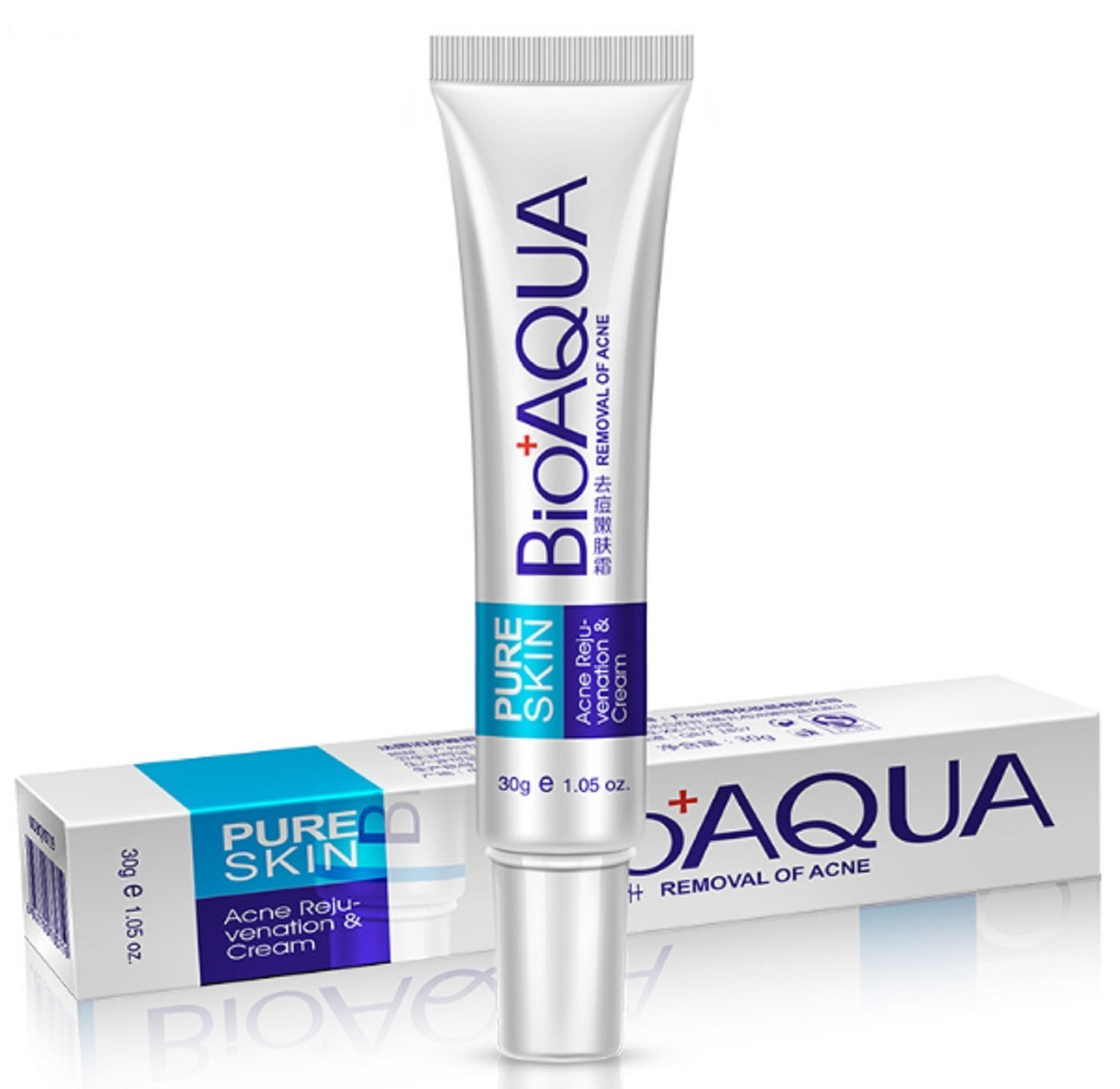 BIOAQUA PURE SKIN -Removal of Acne, Acne Scars, Shrink Pores, Oil Control, Acne Rejuvenation & Moisturizing Cream 30g PrimeStellar