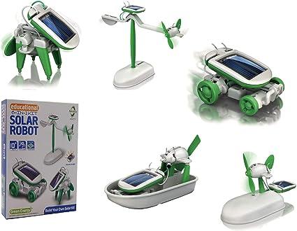 avi/ón rotatorio, coche, avi/ón, cachorro, bote y molino The source Juguete educativo 6 en 1 para construir robots