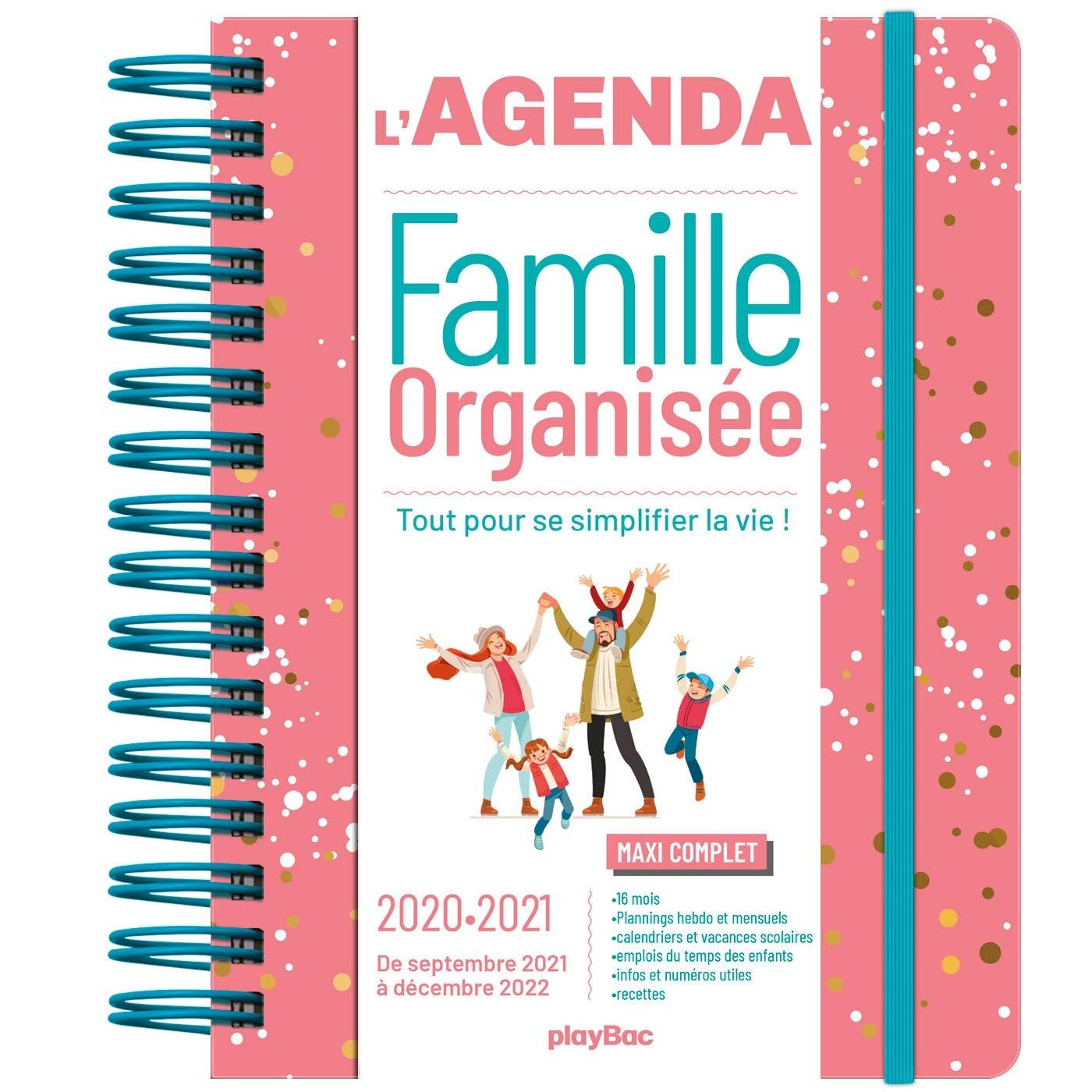 Agenda de la Famille Organisee 2021 (De Sept. 2020 a Dec. 2021) S