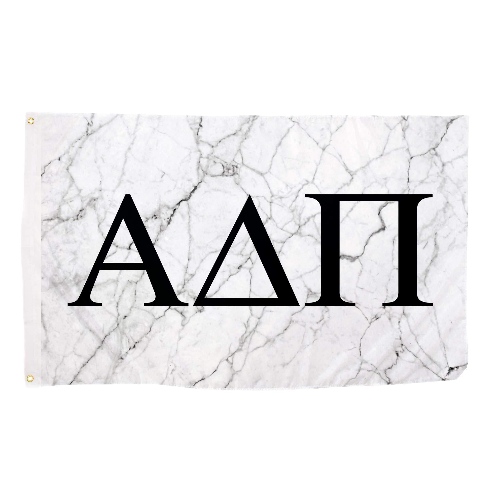 Alpha Delta Pi Light Marble Sorority Letter Flag Banner Sign Decor ADPi