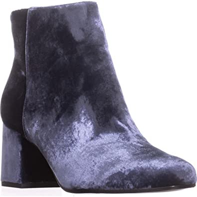5e3e20286261 Amazon.com | Via Spiga Maury Block-Heel Booties, Blue, 8.5 US / 38.5 ...