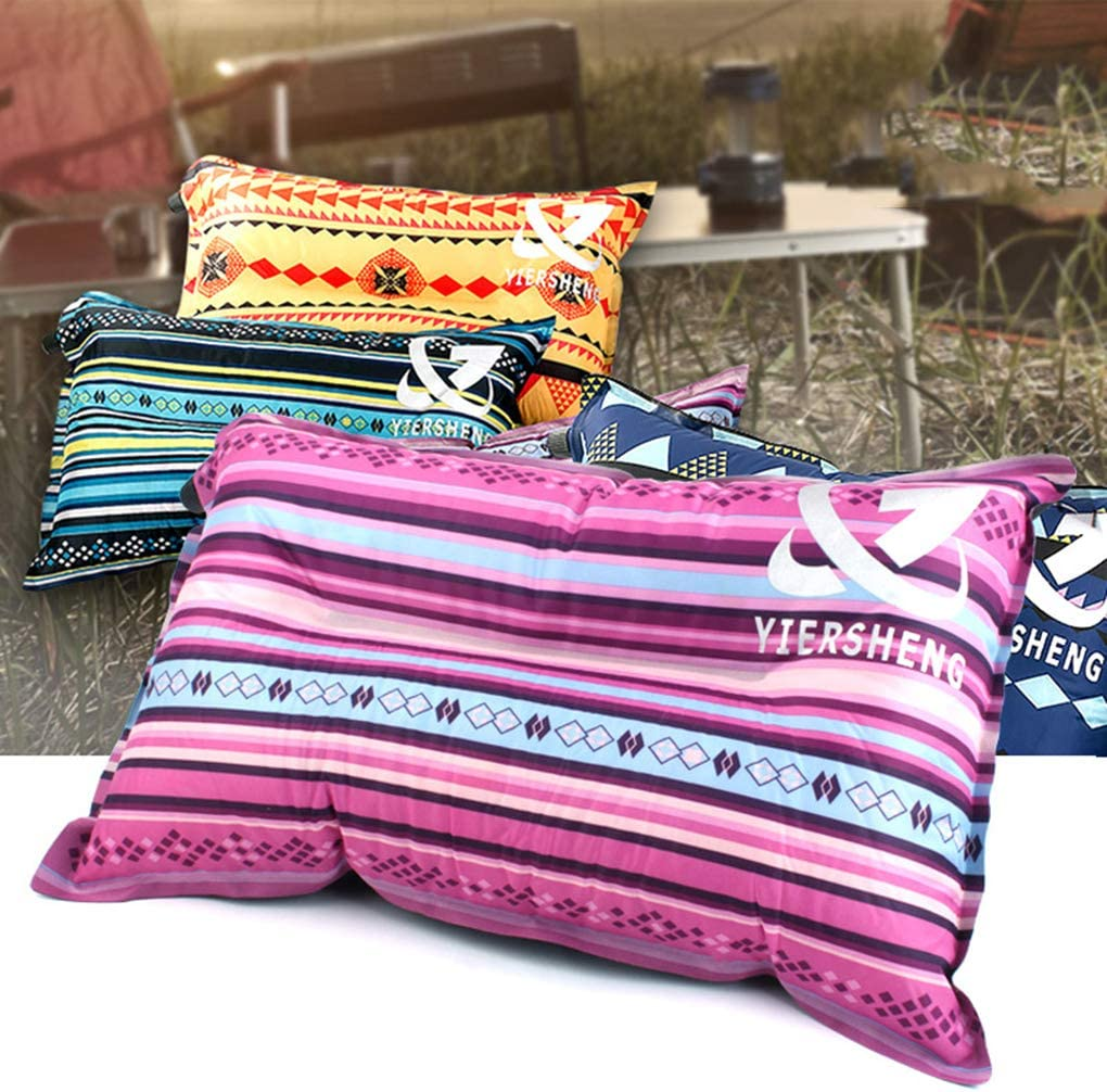 Outdoor National Style Automatic Inflatable pillow,outdoor automatic air pillow,travel Pillow Travel Air Blow Up Back Cushion Camping Lunch Break