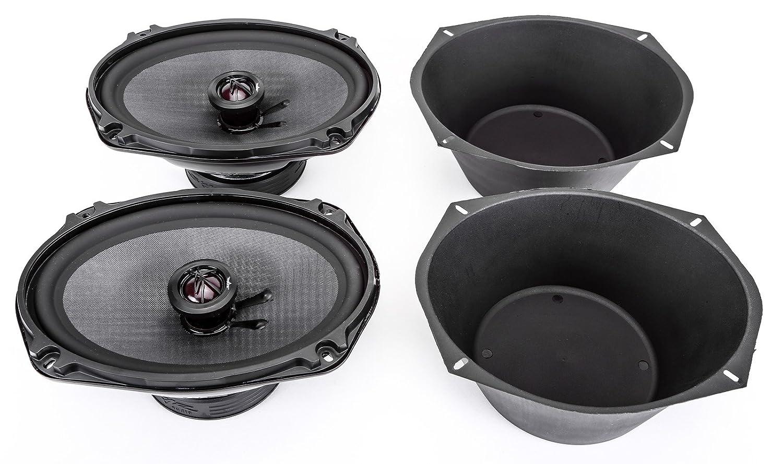 Skar Audio TX69 6 X 9 400W 2 Way Coaxial Speakers 1 Pair with One Pair of 6 X 9 Universal Speaker Baffles