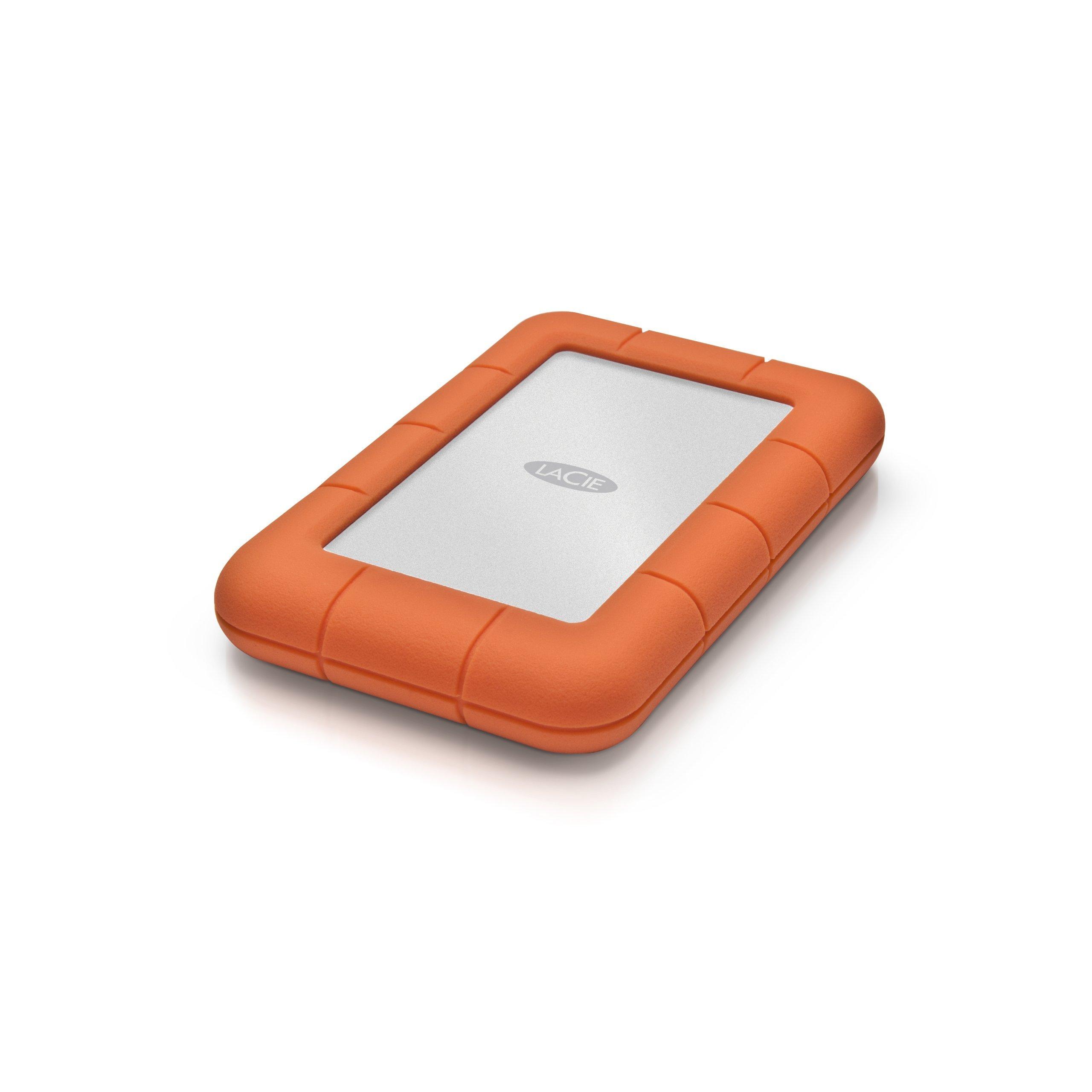 LaCie Rugged Mini USB 3.0 / USB 2.0 2TB External Hard Drive (9000298) (Renewed)