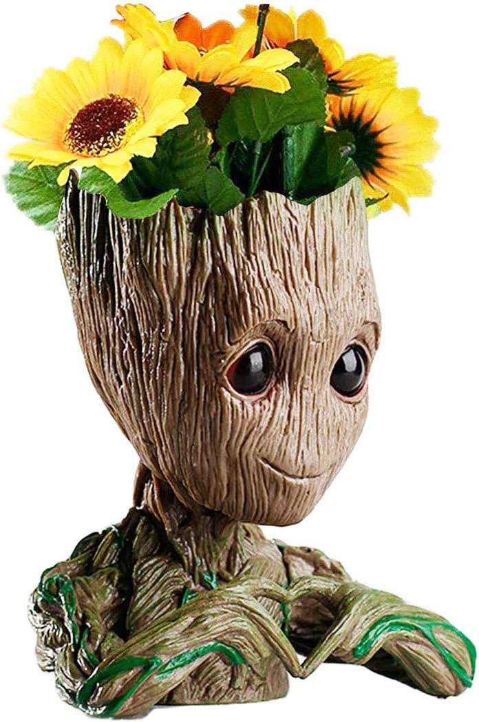 B-Best Guardians of The Galaxy Groot Pen Pot Tree Man Planter