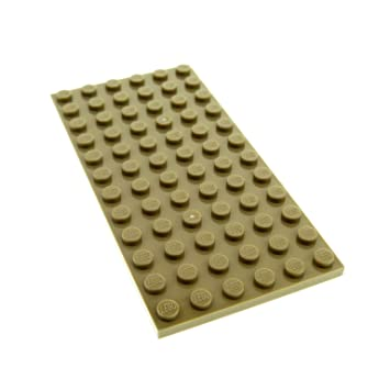 Baukästen & Konstruktion 1 x Lego System Bau Platte dunkel beige tan 6x12 79004 7621 7327 4266897 3028 LEGO Bau- & Konstruktionsspielzeug