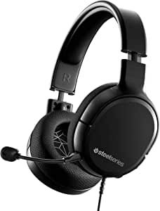 SteelSeries Arctis 1 - All-platform compatibility - for PC, PS4, Xbox, Nintendo Switch, Mobile - Detachable ClearCast Microphone (PS4)