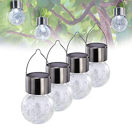 Awesome Solar Powered Lights Outdoor Tree Hanging Light Garden Lights  Weatherproof  Design  White Lantern Pathway