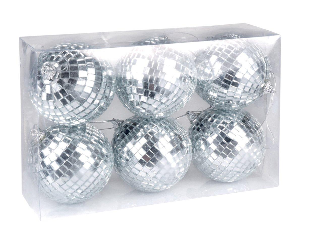 8 cm Boland 00700 Lot de 6 Boules Disco Env