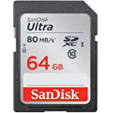 SanDisk Ultra 64GB Class 10 SDXC UHS-I Memory Card up to 80MB/s (SDSDUNC-064G-GN6IN)