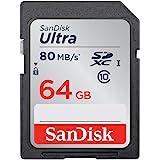 SanDisk 64GB Ultra SDXC UHS-I Card - SDSDUNC-064G-GN6IN,Grey, Black