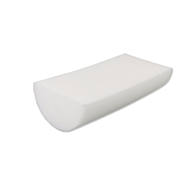 CanDo Half-Round Foam Roller, 6 x 12 Inch