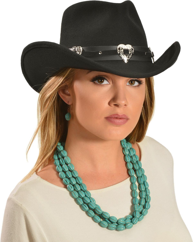 Master Hatters Women's Julia Cowgirl Hat Black Medium