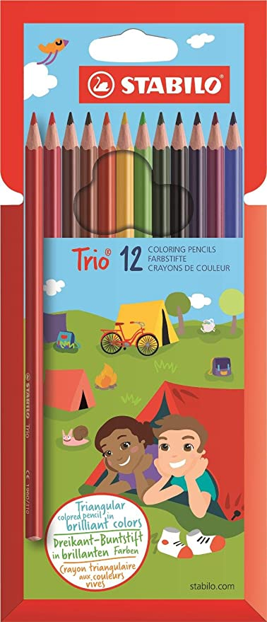 Amazon.com : STABILO Trio Thin Colouring Pencil (Pack of 12 ...