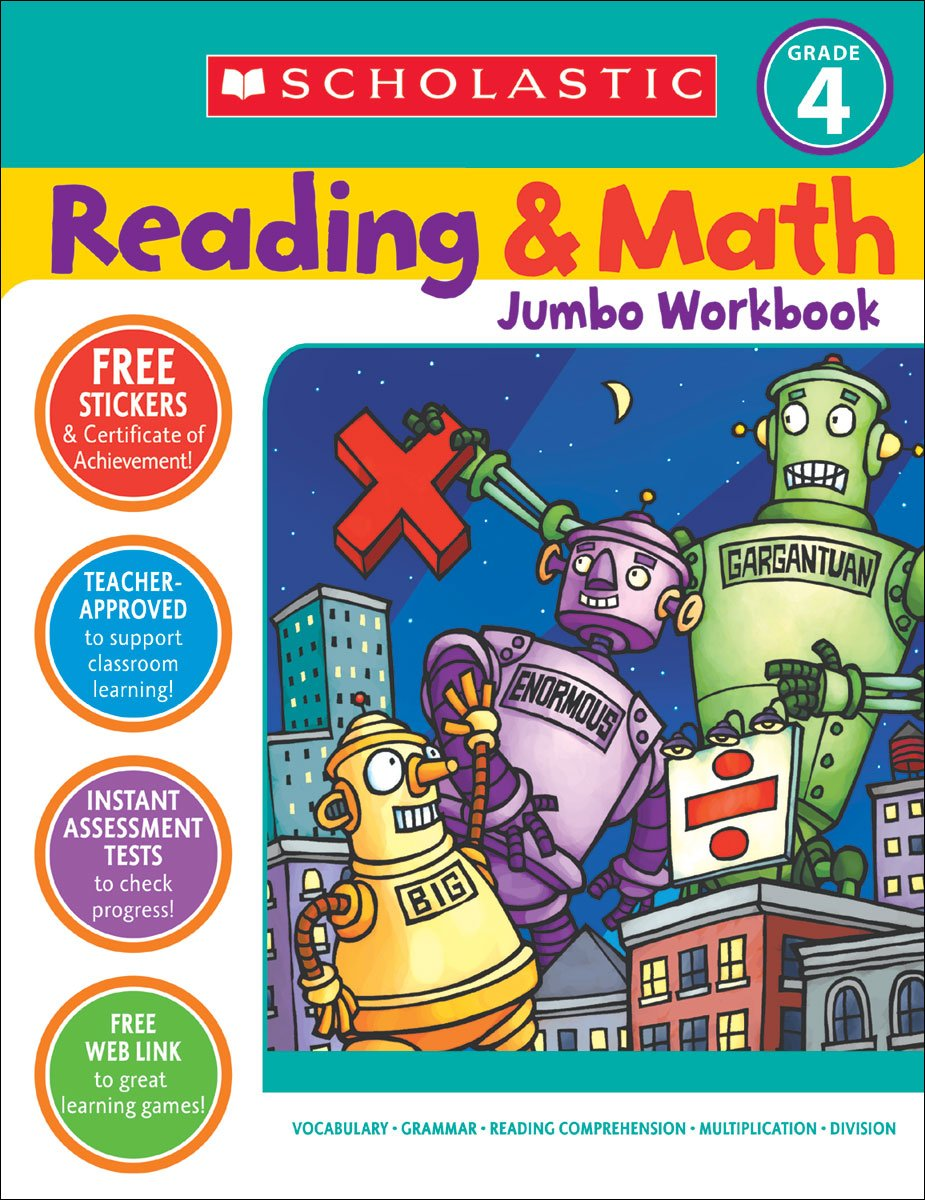 Amazon.com: Reading & Math Jumbo Workbook: Grade 4 (9780439786034): Terry  Cooper: Books