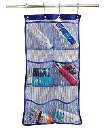 Awesome Hanging Mesh Bath Shower Caddy Organizer With 6 Clear Storage Pockets,  Space Saving Organizer Bathroom