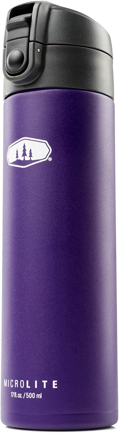 GSI Outdoors, Microlite 500 Flip 17 fl.oz. Vacuum Insulated Stainless Steel Water Bottle