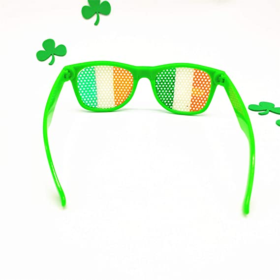Funny Shamrock Design Sunglasses Creative Holiday Cosplay Costume Glasses Accessory Men's Eyewear Frames Men's Glasses