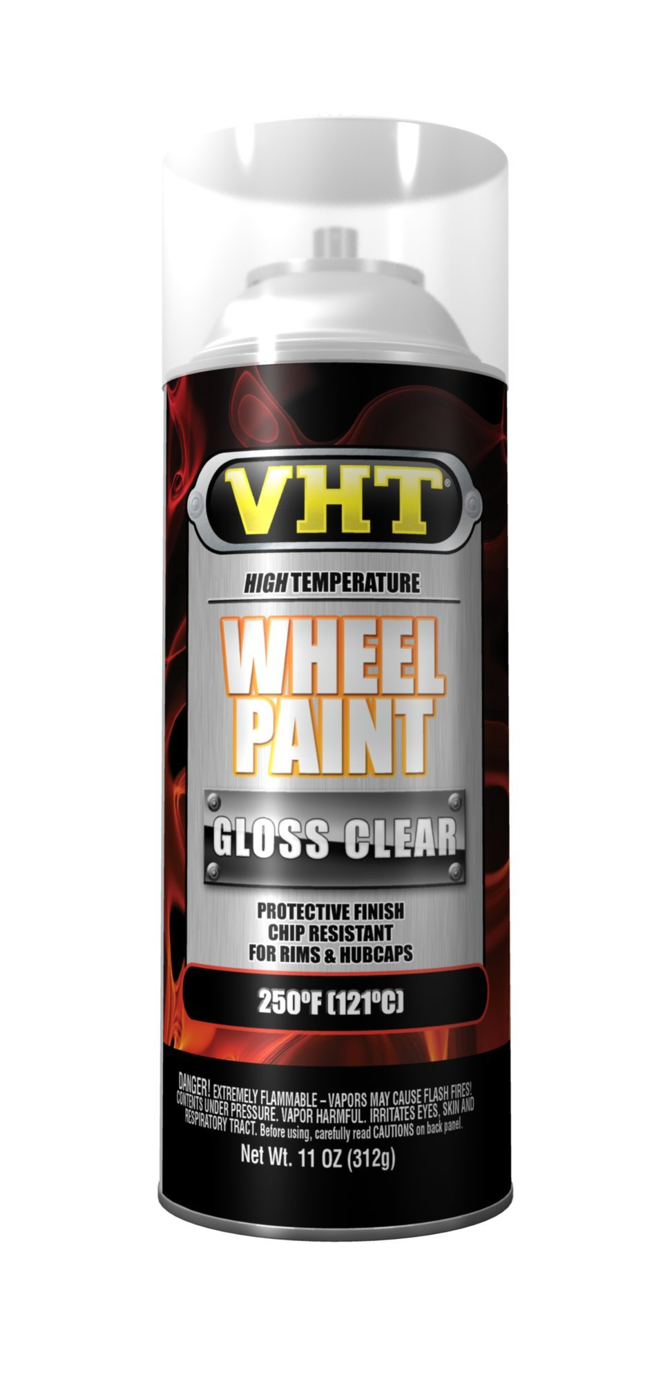 VHT SP184-6 PK (ESP184007-6 PK) Clear Coat High Temperature Wheel Paint - 11 oz. Aerosol, (Case of 6)