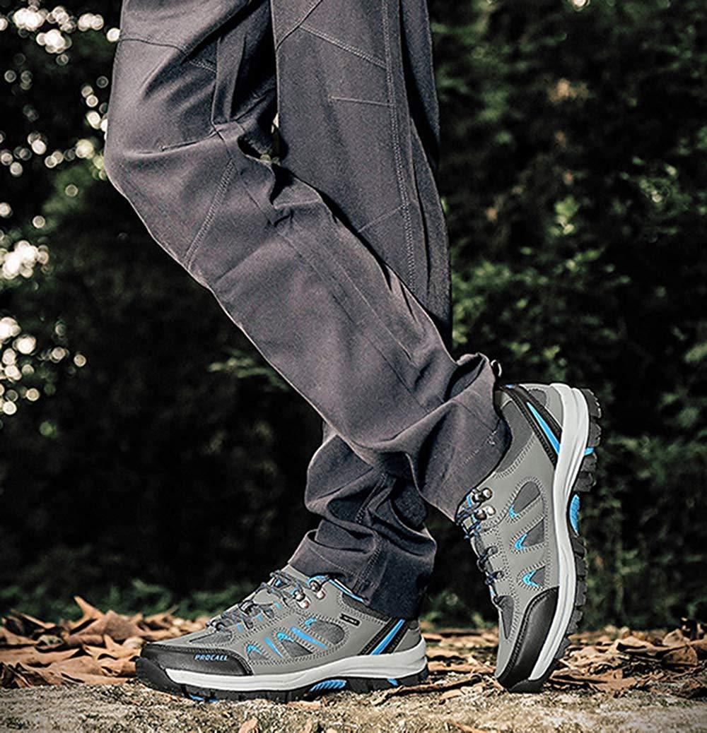FuweiEncore Männer Wanderschuhe Wanderschuhe Wanderschuhe Stiefel Leder Wanderschuhe Turnschuhe Für Outdoor Trekking Training Beiläufige Arbeit (Farbe   2, Größe   45EU) 5c99ec