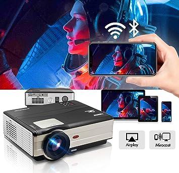 Proyector de películas HDMI inalámbrico Home Theater 4200 lúmenes con WiFi Bluetooth Smart Android 6.0 Proyector