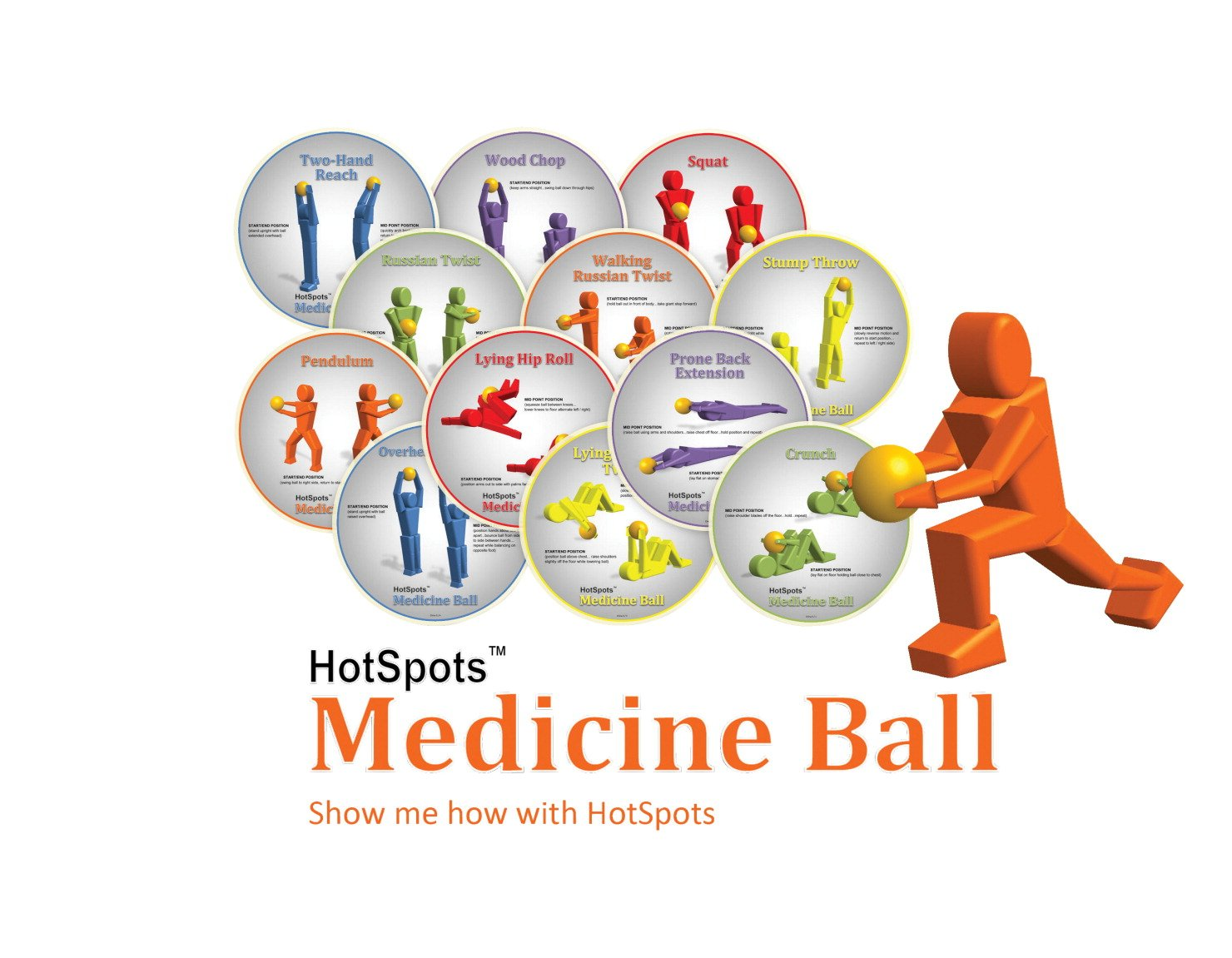 HotSpots 8-1/2 in Medicine Ball Spots, Set of 12