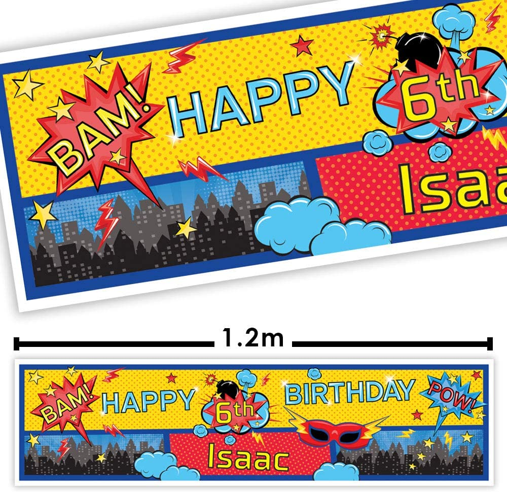 Personalised Big Hero 6 Birthday Banners
