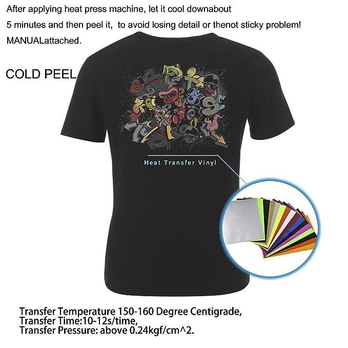 Newcomdigi Papel de Transferencia Termica para Hacer Camisetas Papel  Transfer Fotográfico de Impresión en Camiseta y Tela A4 16 Hojas   Amazon.es  Oficina y ... e26e308fac9f3