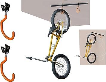 Soporte para Bicicletas al Techo o Pared Homologado hasta 60 Kg y 2 Ganchos 3272: Amazon.es: Bricolaje y herramientas
