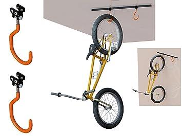 soporte para bicicletas al techo o pared homologado hasta kg y ganchos
