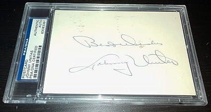 ed635c5275a Johnny Unitas  Best Wishes  Autographed Signed Memorabilia PSA DNA Colts Autographed  Signed Memorabilia