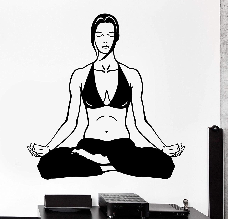 yaonuli Deportes Yoga Zen Meditación Fitness Vinilo Adhesivo 68X37cm