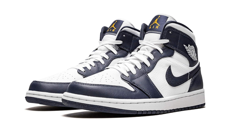 scarpe nike air jordan 1 mid azzurre